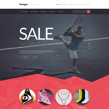 Tennis Responsive PrestaShop Theme