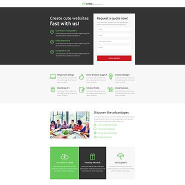 Web Development Unbounce Template
