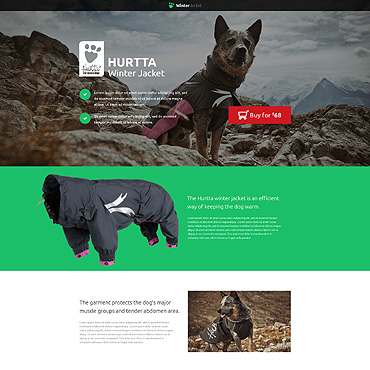 Animals & Pets Responsive Landing Page Template