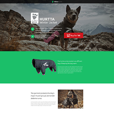 Animals & Pets Unbounce Template