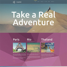Travel Agency Responsive Moto CMS 3 Template