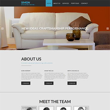 Interior & Furniture Responsive Moto CMS 3 Template
