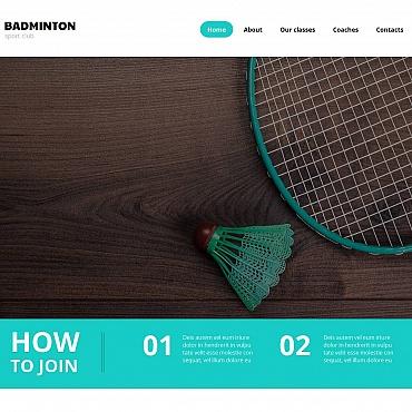 Badminton Moto CMS HTML Template