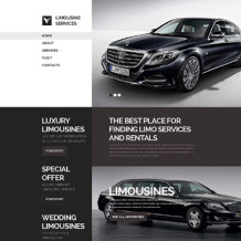 Limousine Services Responsive Website Template