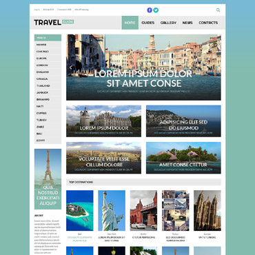 Travel Guide Responsive WordPress Theme