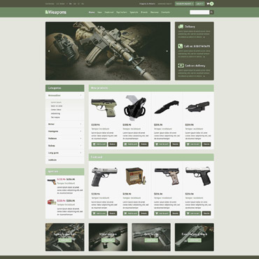 Weapons Store OsCommerce Template
