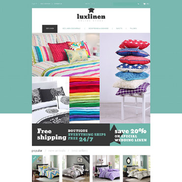 Luxury Linen Store PrestaShop Theme #53292