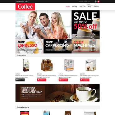 Coffee Shop Responsive VirtueMart Template