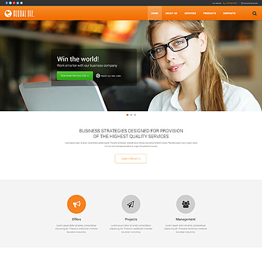 Business Responsive Website Template #53312