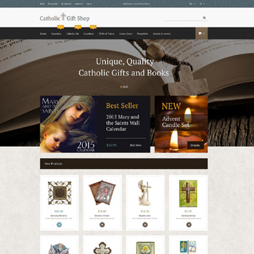 Catholic Church Responsive Magento Theme