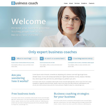 Business School Website Template #53336