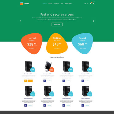 Hosting OsCommerce Template