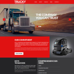 Trucking Responsive WordPress Theme