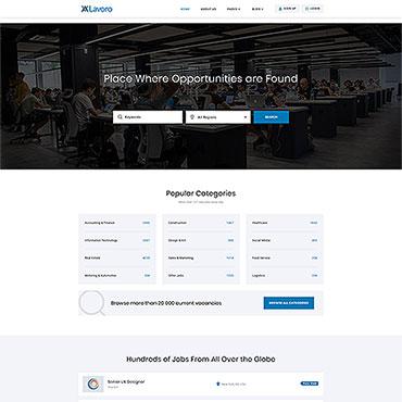 Job Portal Responsive Website Template