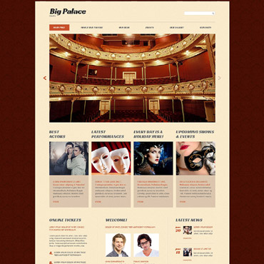Theater Responsive Website Template