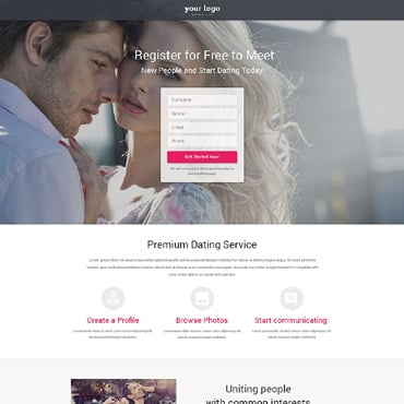 Dating Responsive Landing Page Template