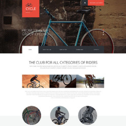 Cycling Responsive Website Template