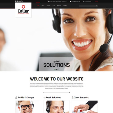 Call Center Responsive Joomla Template