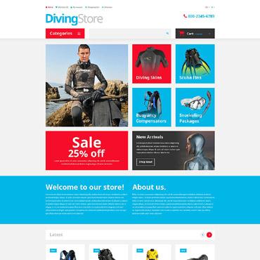 Diving Responsive OpenCart Template