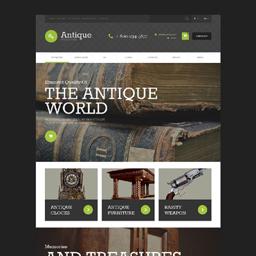 Antique Store Responsive OpenCart Template