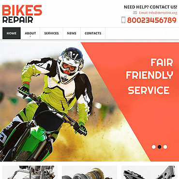 Bike Shop Moto CMS HTML Template
