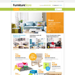 Furniture Responsive VirtueMart Template