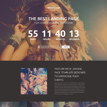 Night Club Responsive Landing Page Template