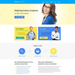 Private Teacher Responsive WordPress Theme