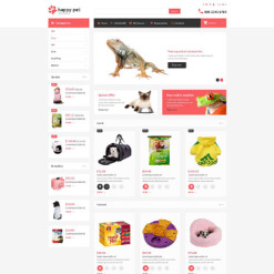 Pet Shop Responsive OpenCart Template