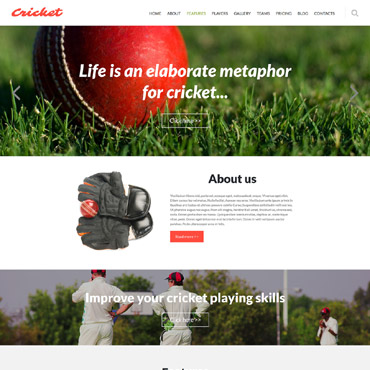 Cricket Responsive Joomla Template