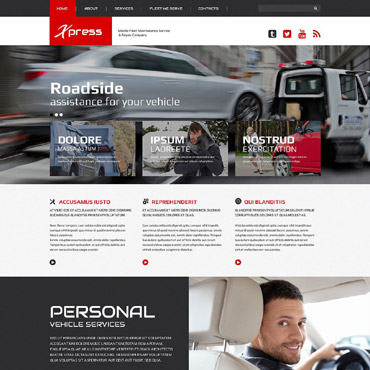 Mobile Repair Service Responsive Website Template