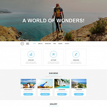 Travel Responsive Moto CMS 3 Template