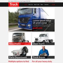 Trucking Responsive Website Template