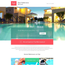Pool Cleaning Responsive Landing Page Template
