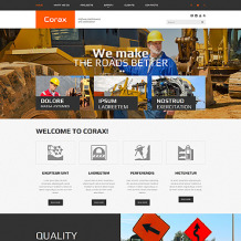 Construction Company Responsive Website Template
