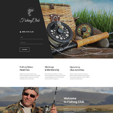 Fishing Responsive Landing Page Template