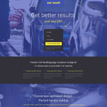 Car Wash Responsive Landing Page Template