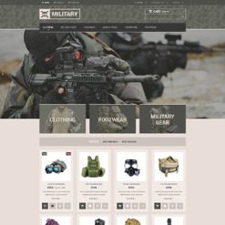 Military Responsive PrestaShop Theme