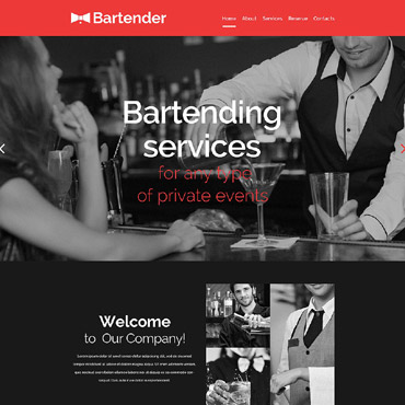 Cocktail Bar Responsive Website Template