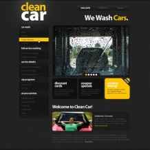 Car Wash PSD Template