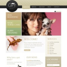 Pet Sitting PSD Template