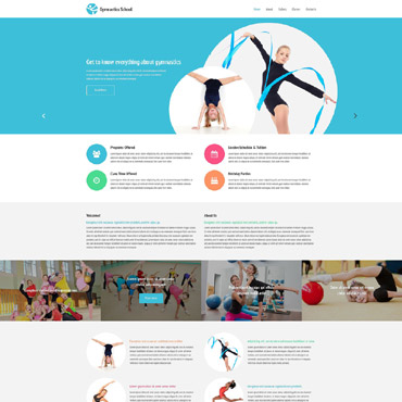 Fitness Responsive Website Template