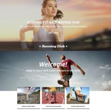 Running Responsive Landing Page Template