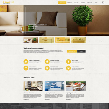 Interior & Furniture Responsive Drupal Template