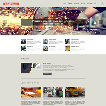 Industrial Responsive Drupal Template