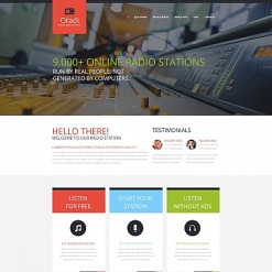 Radio Website Moto CMS HTML Template