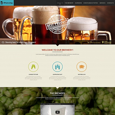 Brewery Moto CMS HTML Template