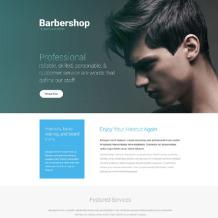 Hair Salon Responsive Landing Page Template