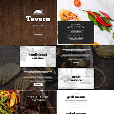 Cafe and Restaurant Responsive Landing Page Template