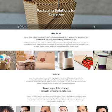 Packaging Responsive Website Template